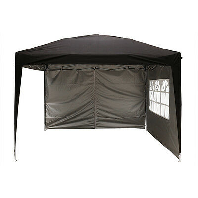 3x3m Pop Up Gazebo Marquee Outdoor Garden Party Tent Canopy 4 Side Panels New 6