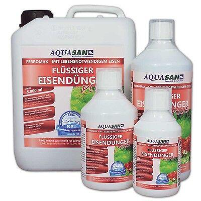 (19,98€/l) AQUASAN FerroMax 500 ml Flüssiger Eisendünger Aquariumpflanzendünger 3