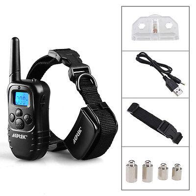 AGPtek Rechargeable 100LV Electric E-Collar Remote Pet Dog Shock Training Collar 11