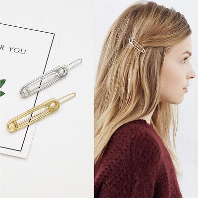 Women's Girls Geometric Metal Hair Clips Barrette Slide Grips Hair Clip Hairpins 10