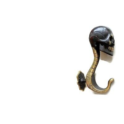 "Massive Skull Hook Solid Hollow BRASS 8 "" 20 cm day of the dead B 6"
