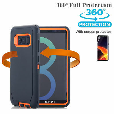 Samsung Galaxy S10+ S9 Note 8 9 Case Shockproof Hybrid Rubber Armor Rugged Cover 10