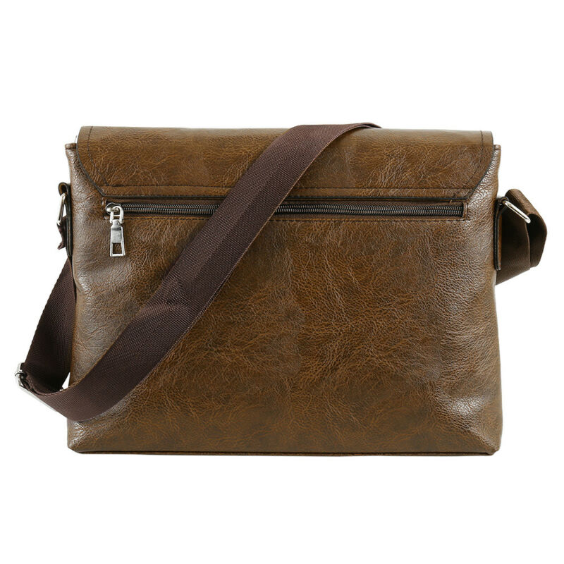 NEW Fashion Men Retro Leather Messenger Shoulder Bag Satchel Business Briefcase 9