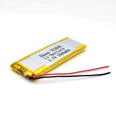 3.7V 2500mAh 703090 Li-Polymer Rechargeable Cell Li-ion LiPo Battery for GPS MP3 7