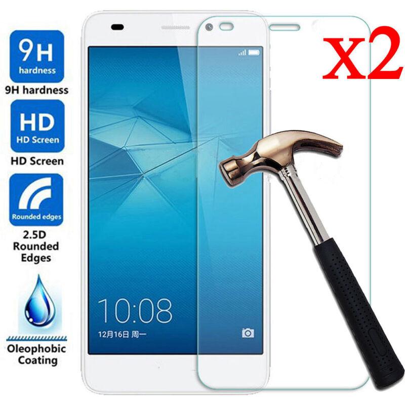 2PCS Premium Tempered Glass Screen Protector 9H Film For Huawei Honor 7 Lite /5C 10