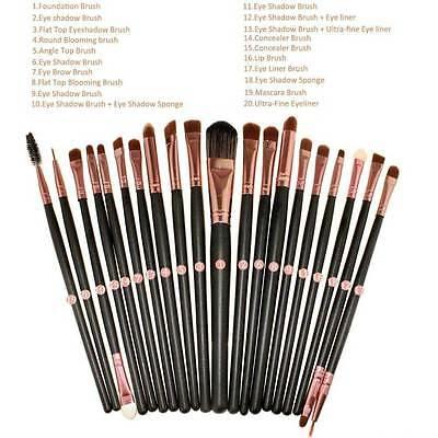 20pcs Makeup BRUSHES Kit Set Powder Foundation Eyeshadow Eyeliner Lip Brush NEW 3