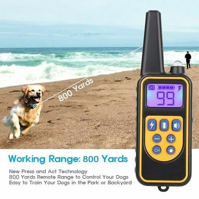 Rechargeable 2600 FT Remote Dog Training Shock Collar Waterproof Hunting Trainer 5