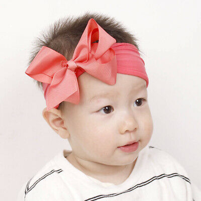 Girls Kids Baby Soft Bow Hairband Headband Sweet Turban Knot Head Wrap Cute Bow 8