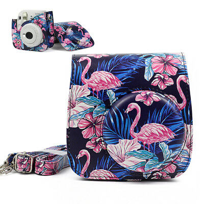 Fujifilm Instax Mini 8 9 Film Instant Camera Flamingo Bag PU Leather Cover Case 9