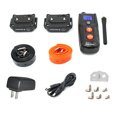 Petrainer Waterproof Rechargeable Dog Training Shock Collar With Remote 2 Dogs 12