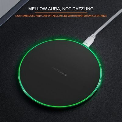 Fast Qi Wireless Charger Dock For iPhone X 8 plus XR XS Samsung S8 S9 plus Note9 5