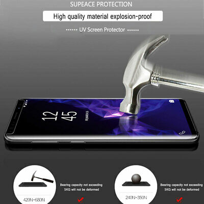UV Tempered Glass Screen Film Protector for Samsung Galaxy Note10/S10 S8 S9Plus 3