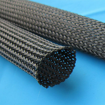 "1/2"" 50ft Expandable Braided conduit Wire Cable Weave Sleeve hose cover tube US 4"