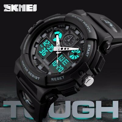 SKMEI Men's Military Digital & Analog Date Alarm Waterproof Workout Sports Watch 4