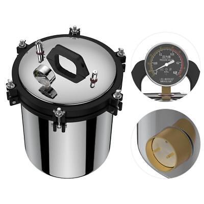 220V 18L Pressure Steam Autoclave Sterilizer Equipment Dual Heating XFS-280A NEW 3