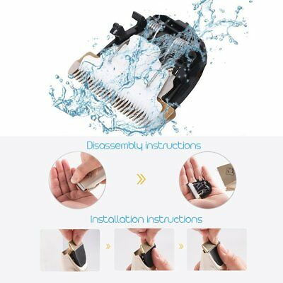 Rechargeable Cat Dog Clipper Cordless Pet Clippers Hair Shaver Grooming Trimmer 10