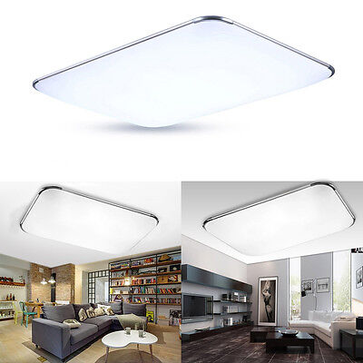 2 Von 6 Kaltweiß 64W LED Ultraslim Deckenleuchte Schlafzimmer Deckenlampe  Wohnzimmer