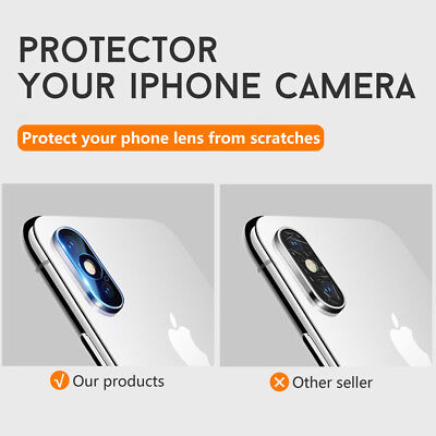 Apple iPhone XS Max XR X 8 Plus Camera Lens Tempered Glass Screen Protector 3