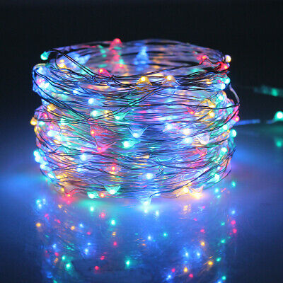 10M 20M Long LED Solar String Lights Waterproof Copper Wire Fairy Outdoor Garden 5