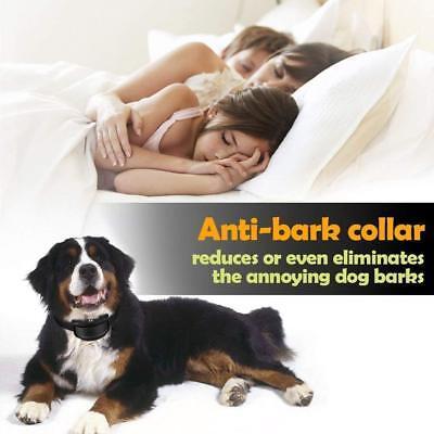 Rechargeble LCD Automatic Anti Bark No Barking Tone Shock Dog Training Collar 11