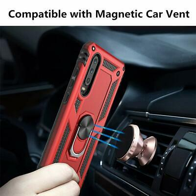 For Huawei P30 Lite P30 Pro Heavy Duty Rugged Rotating Magnetic Ring Cover Case 2