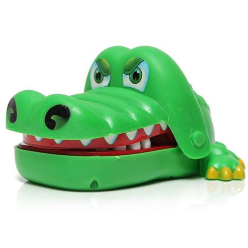 Gift For Kids Children Funny Gags Dentist Bite Finger Game Joke Crocodile Toys 2