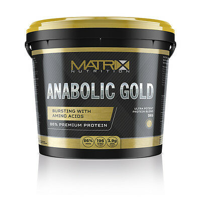 Whey Protein Powder Matrix Anabolic Gold Whey - All Flavours Now In Both Sizes 3