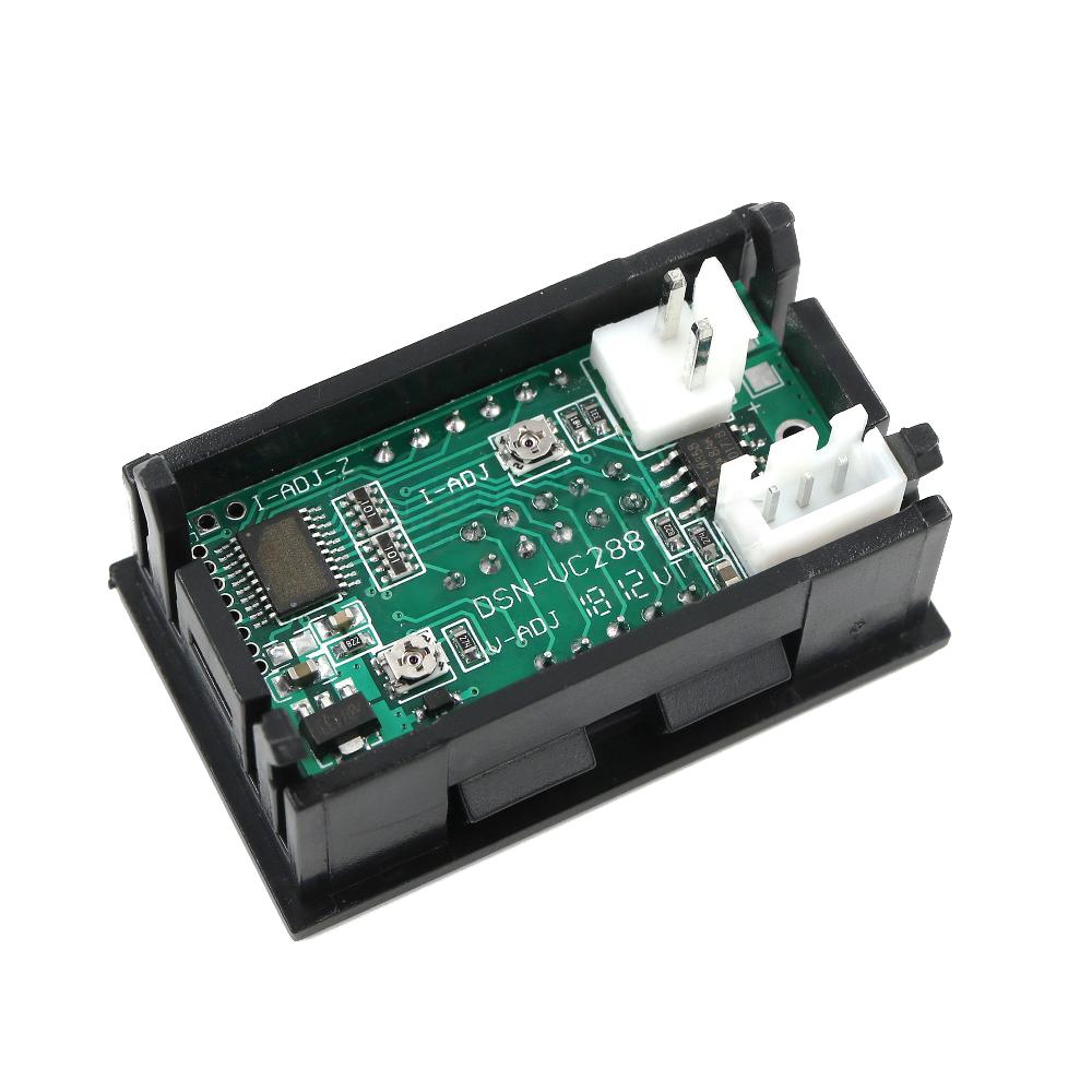Voltmetro voltometro amperometro digitale da pannello 100V 10A modulare modulo 3