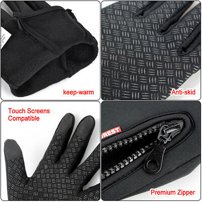 Cycling Touch Screen Gloves waterproof Outdoor Jogging Skiing Hiking Running AU 4