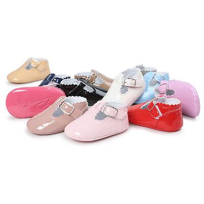 Bebé PU piel Zapatos primeros pasos de gateo Pantuflas Zapatillas cuero MODE 4