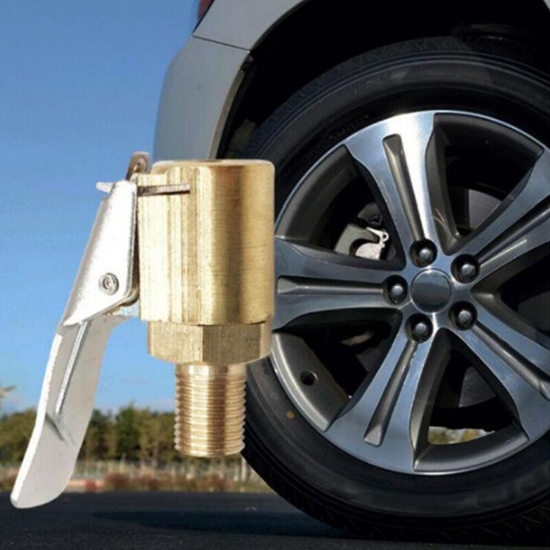 1pc Auto Car Air Compressor Inflator Valve Quick Clip Connector Brass Adapter 4