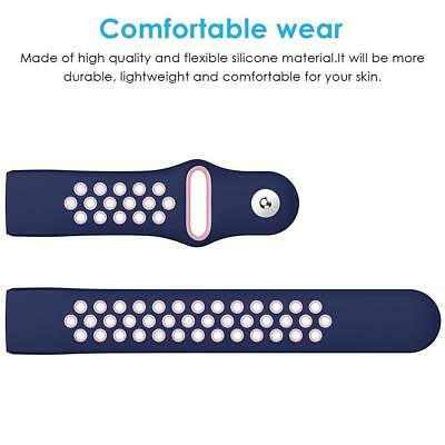 Sport Replacement For Fitbit Charge 3 Silicone Watch Band Bracelet Strap Soft UK 8
