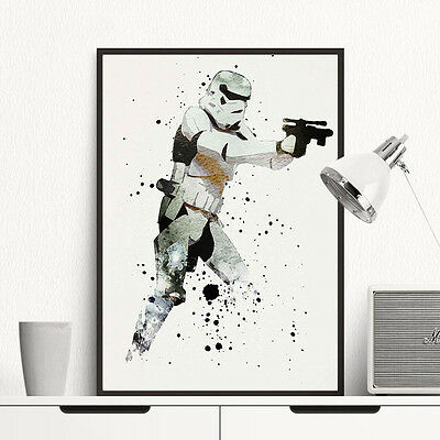 Stormtrooper Star Wars Movie Poster Print Wall Art Canvas Painting Home Decor 3