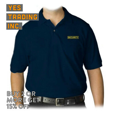 Mens Security Polo Shirt Law Enforment Police Shirts Safety Work Uniform Guard 10