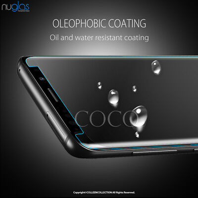 Galaxy S9 S8 Plus Note 9 8 NUGLAS Tempered Glass Full Screen Protector Samsung 7