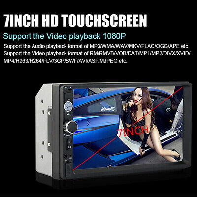 "7"" Double 2DIN Car MP5 Player Bluetooth Touch Screen Stereo Radio USB AUX Camera 6"