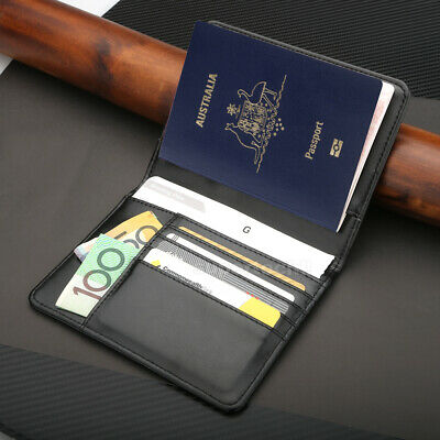 Leather RFID Blocking Passport Travel Wallet Holder ID Credit Cards Cover Case 2