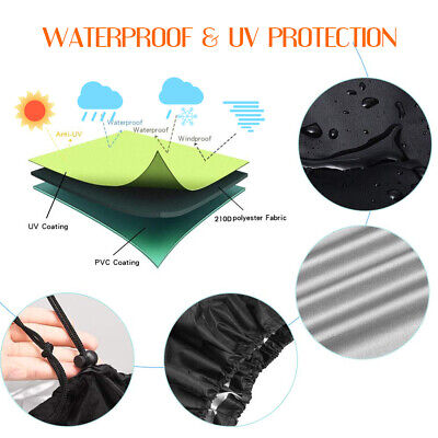 XS-XXL BBQ Cover Heavy Duty Waterproof Medium Barbecue Grill Outdoor Protector 4