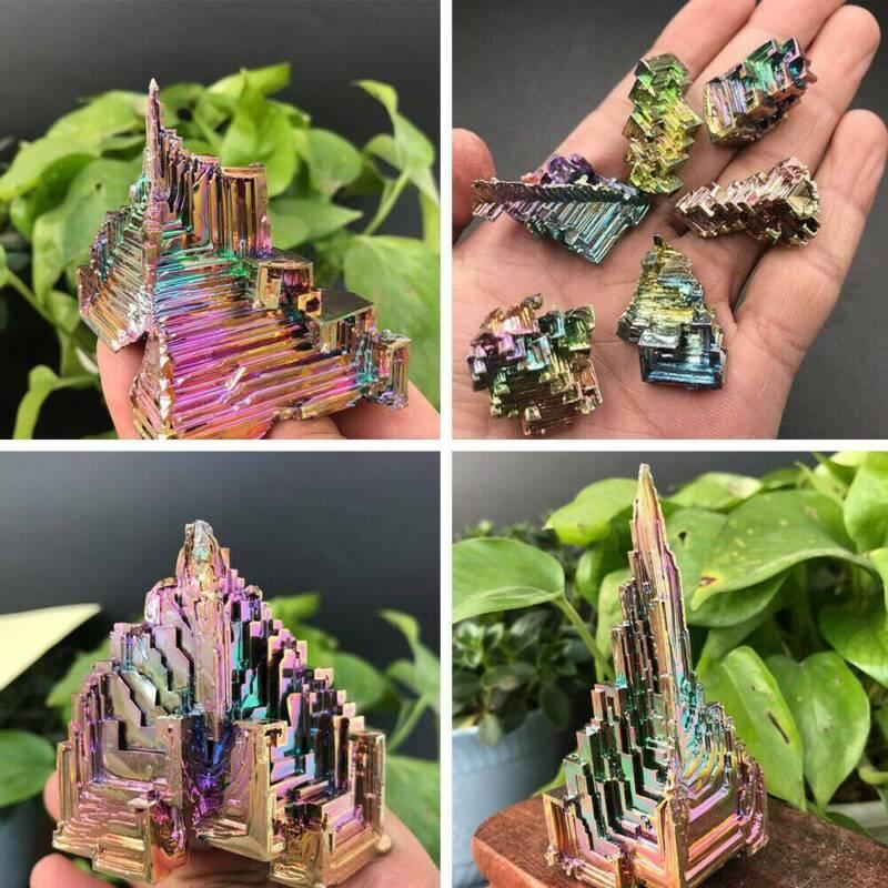 Top Natural Quartz Crystal Rainbow Titanium Cluster VUG Mineral Specimen Healing 7