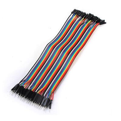 40pc 10-30cm Dupont Jumper Wire Ribbon GPIO Cable Arduino Breadboard F-F/M-M/F-M 5