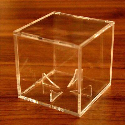 1X Acrylic Baseball Display Case Tennis Ball Care Cube Box Holder UV Protection 4