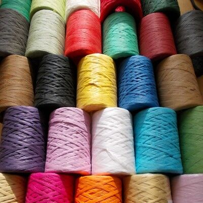 Paper Raffia Ribbon 28 Colours Decorating Flowers Gifts Crafts Scrapbook Natural 2