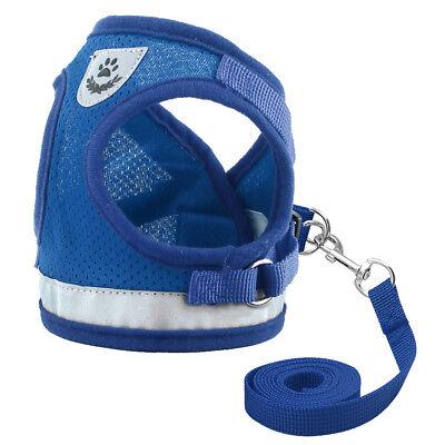Cat Walking Jacket Harness Leash Escape Proof Adjustable Pet Puppy Dog Mesh Vest 5