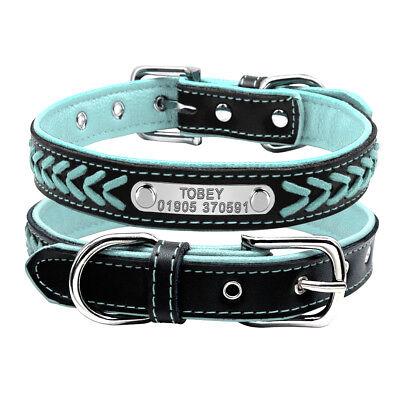 Collar de piel para perro grande suave Personalizable Collar grabado para perro 6