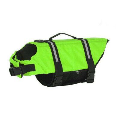 Pet Swimming Safety Vest Dog Life Jacket Reflective Stripe Preserver Puppy US 12