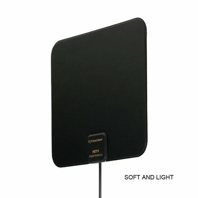 Super Thin Indoor Digital HD TV HDTV Antenna FM/VHF/UHF FREE TV Signals 50 Miles 8
