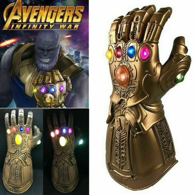 Figure LED Thanos Infinity Gauntlet Marvel Legends Gloves Avengers Kids XMAS UK