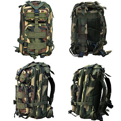 Hiking Camping Bag Army Military Tactical Trekking Rucksack Backpack Camo  30L 5