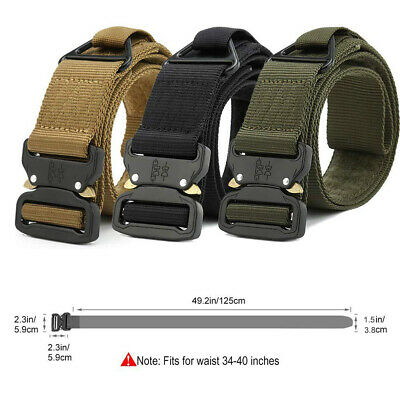 Military Style Tactical Canvas Belt Nylon Men Army Metal Buckle Multi-functional 9