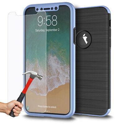 Coque Etui Intégrale 360° Protection iPhone 6/6S/Plus/7/8/X + Film Verre trempé 4